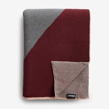 Turin Burgundy Knit Throw Blanket